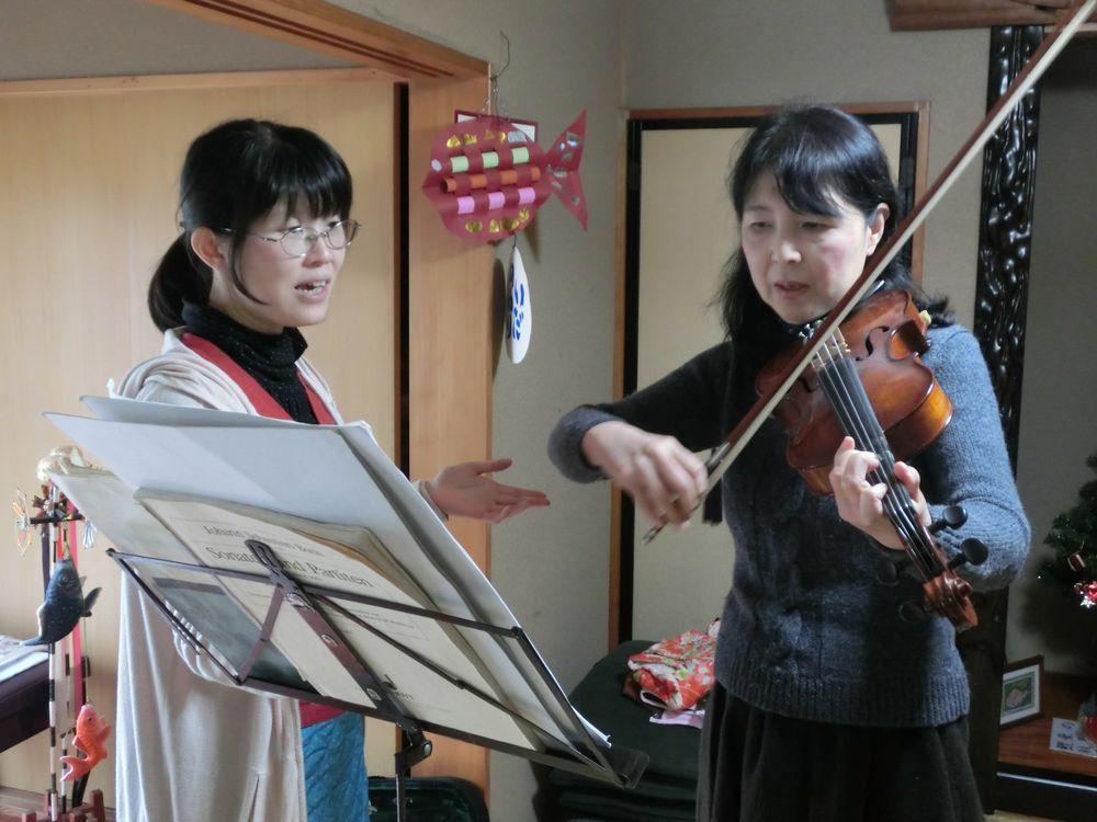 バイオリンのレッスンの様子1