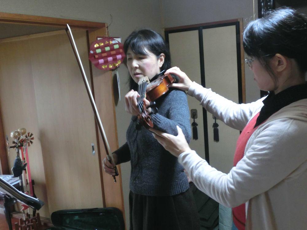 バイオリンのレッスンの様子2