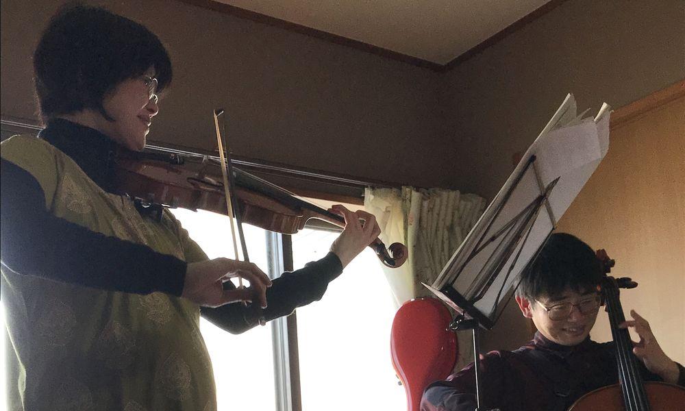 バイオリン講師とチェロ講師